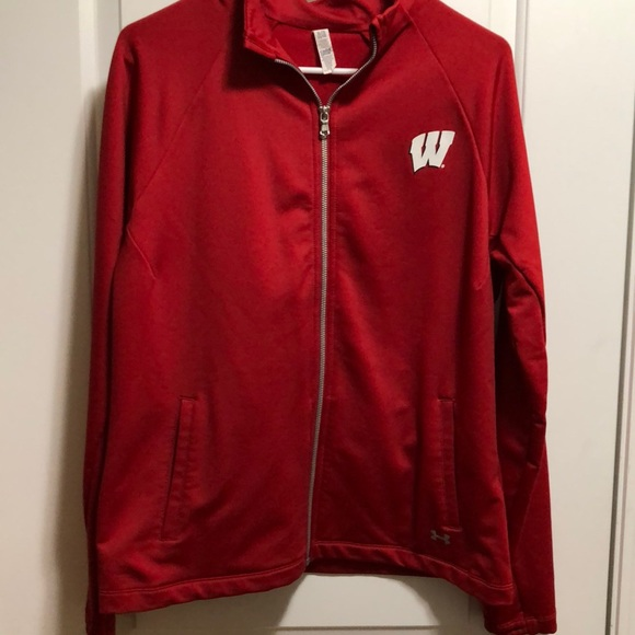 c85d1624f Under Armour Jackets & Coats | Cold Gear Wisconsin Jacket | Poshmark